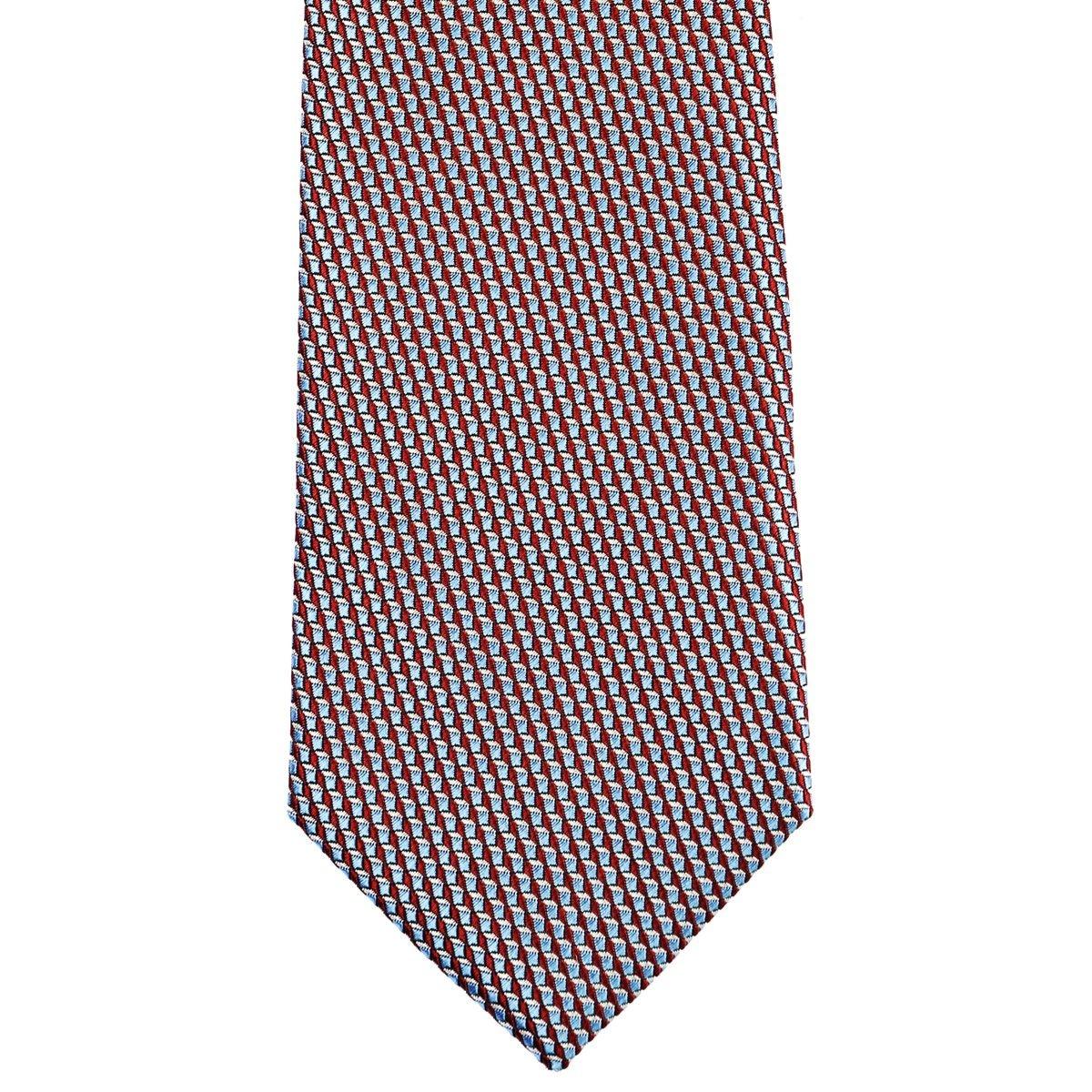 Cravate en pure soie à motifs microcubiques