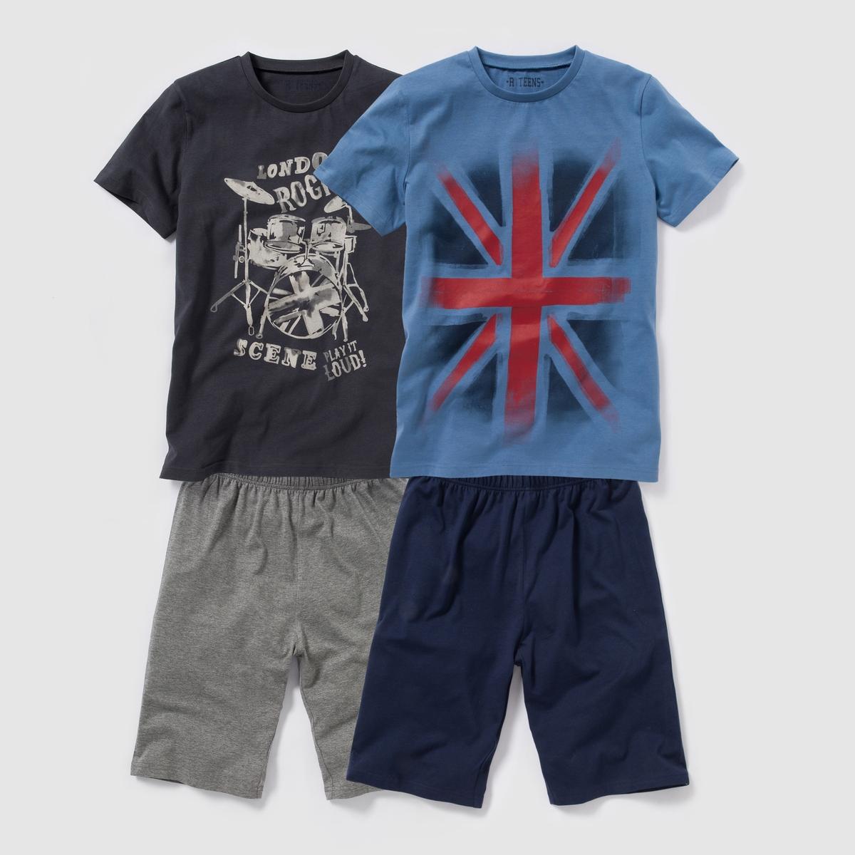 2 пижамы из джерси с рисунком, 100% хлопка, 10-16 лет