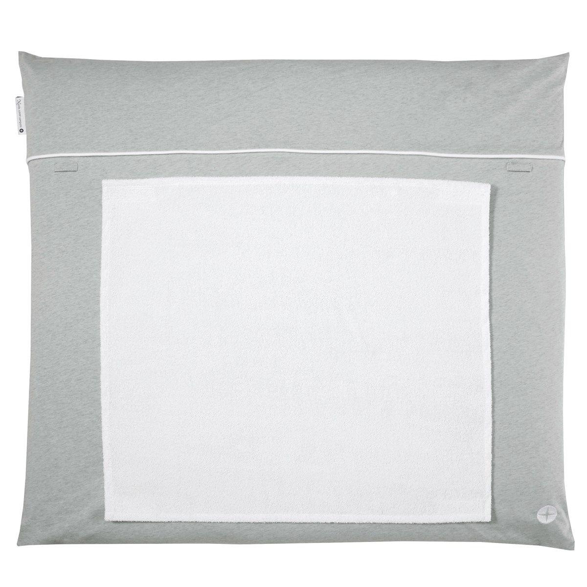 Matelas à langer 70x80cm lavable tissu en gris avec serviette imperméable