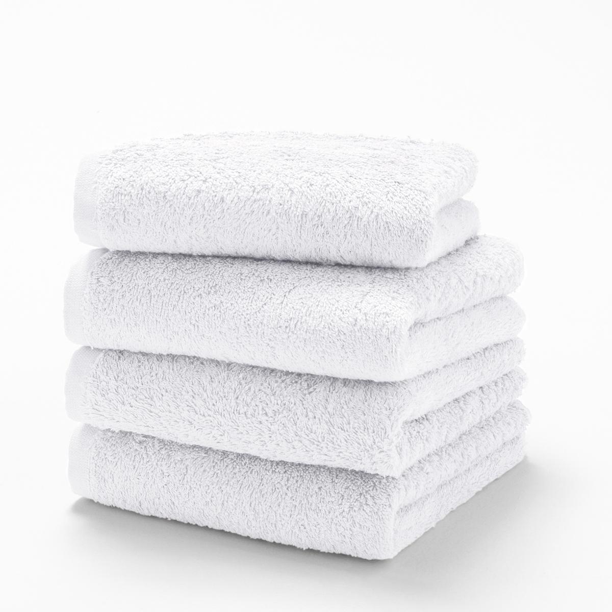 Комплект гостевых полотенец 500 гм La Redoute SCENARIO 40 x 40 см белый комплект из банных принадлежностей la redoute из махровой ткани гм scenario единый размер белый