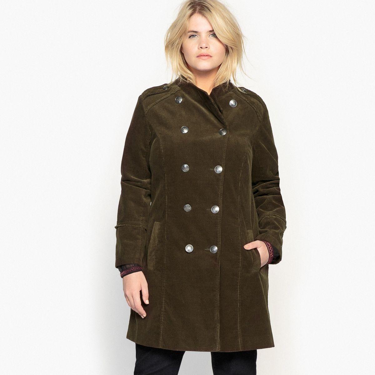 Manteau officier en velours