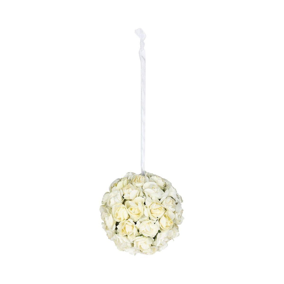 Boule de roses artificielles - Diam. 9 cm