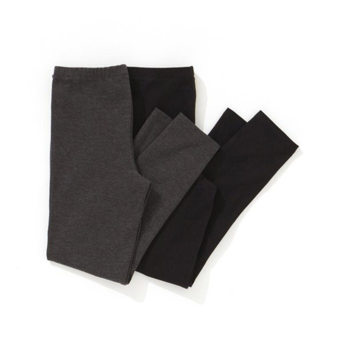 R-Edition-Bambina-Confezione-Di-Fuseaux-Bambina-Leggings-In-Cotone