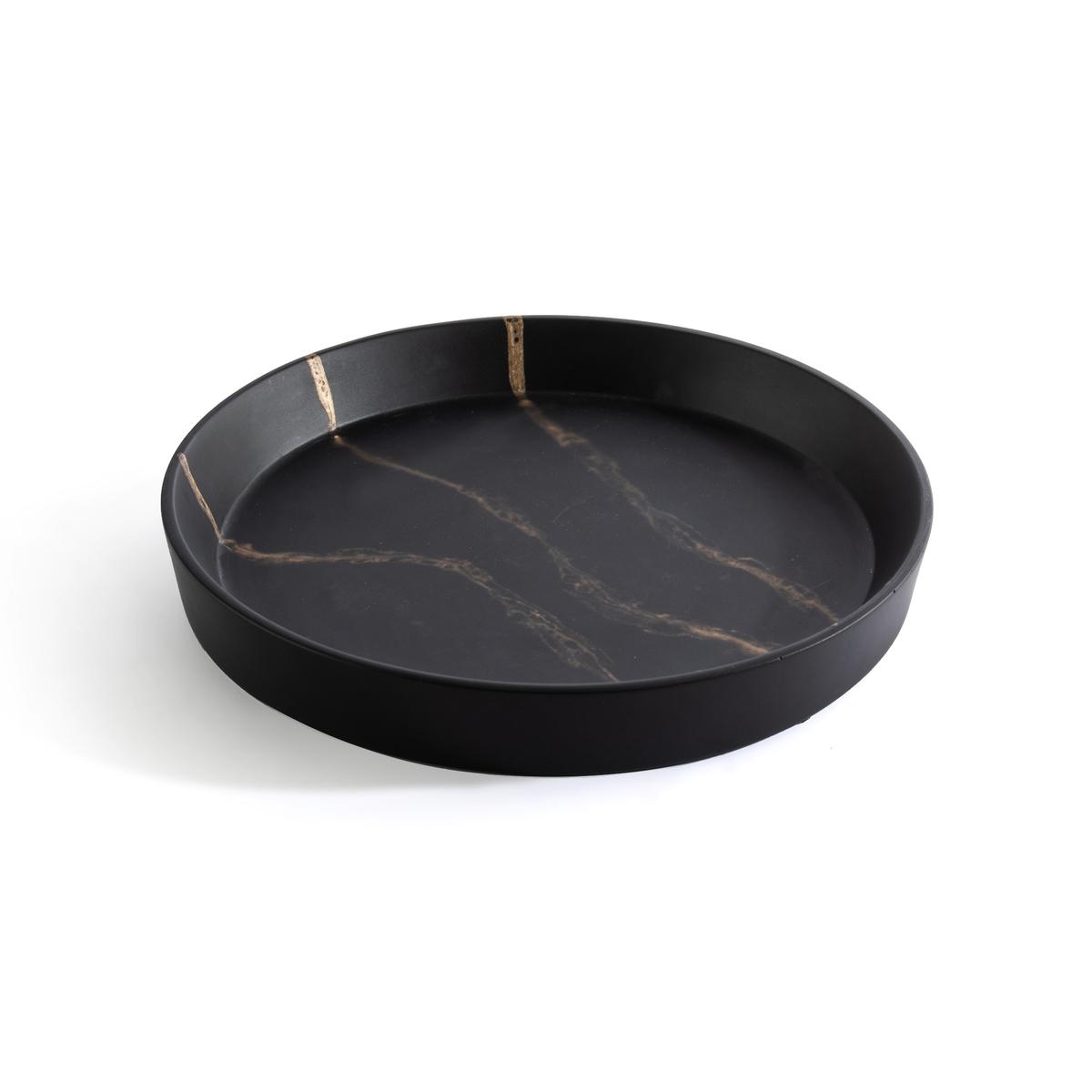 Блюдо La Redoute Из пластика с эффектом мрамора маленькая модель Ogama единый размер черный сумка la redoute из ткани с блестками h единый размер черный
