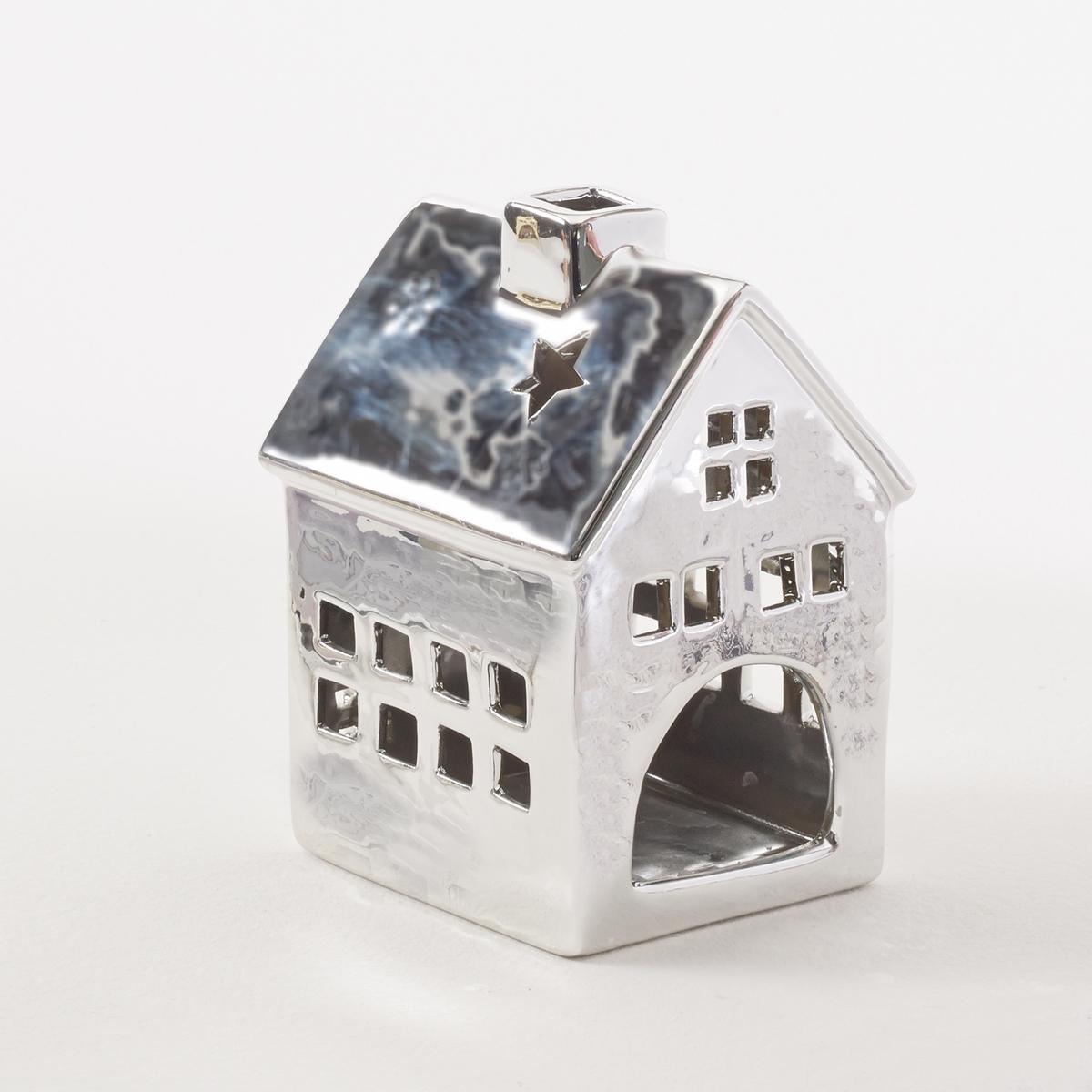 Подсвечник домик, CasadomХарактеристики подсвечника Casadom:Керамический подсвечник в виде домикаМожно использовать как дома, так и в садуИспользовать с маленькими плоскими свечами (не входят в комплект)Другие оригинальные предметы декора - на laredoute.ru.Размеры подсвечника Casadom:Д. 11 x В. 15 x Г. 10 см.<br><br>Цвет: белый,золотистый,медный,серебристый<br>Размер: единый размер.единый размер
