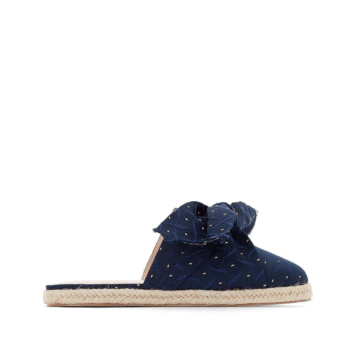 Туфли La Redoute Без задника с завязками 36 синий туфли без задника кожаные с блестящими деталями