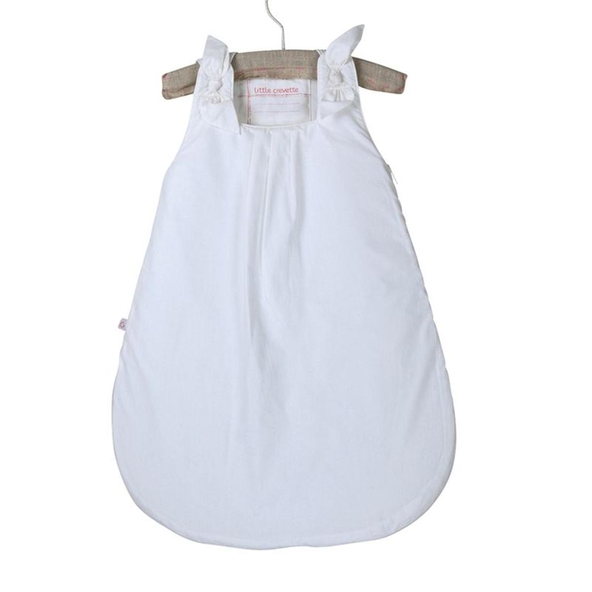 Gigoteuse blanche à nouettes fille en popeline pur coton Lovely Emilie