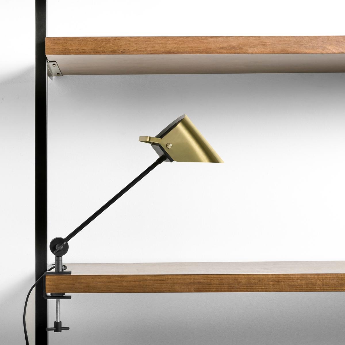 Лампа с зажимом Ma?onaЛампа с зажимом.Кронштейн, зажим и абажур из металла. Патрон G9 для лампы G9 макс. 40 Вт (продается отдельно). Выключатель. Размер. в нормальном положении эксплуатации 8 x 40 x 50 см. Совместима с лампами класса энергопотребления E.<br><br>Цвет: латунь,черный