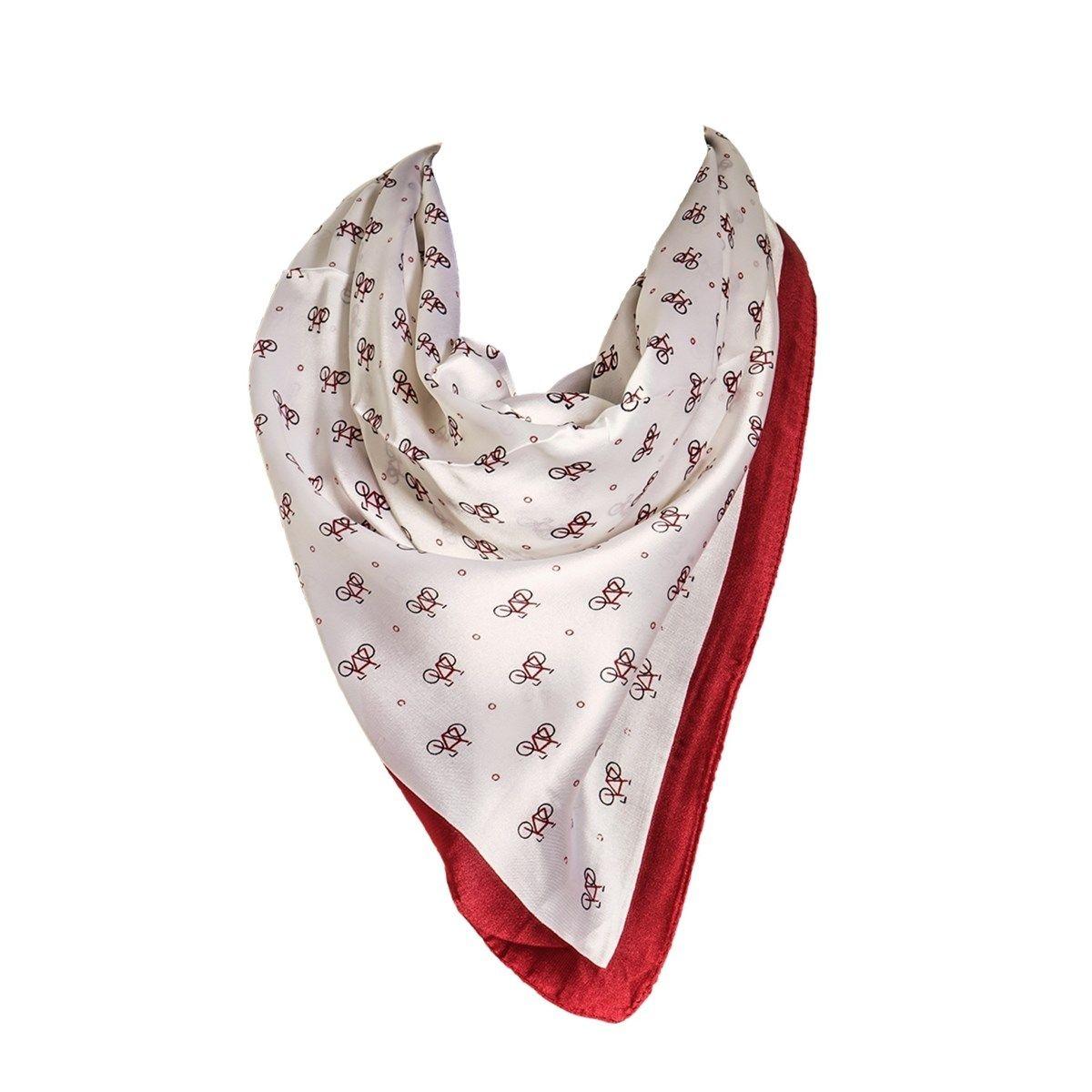 Foulard motif Blanc avec sa pochette cadeau