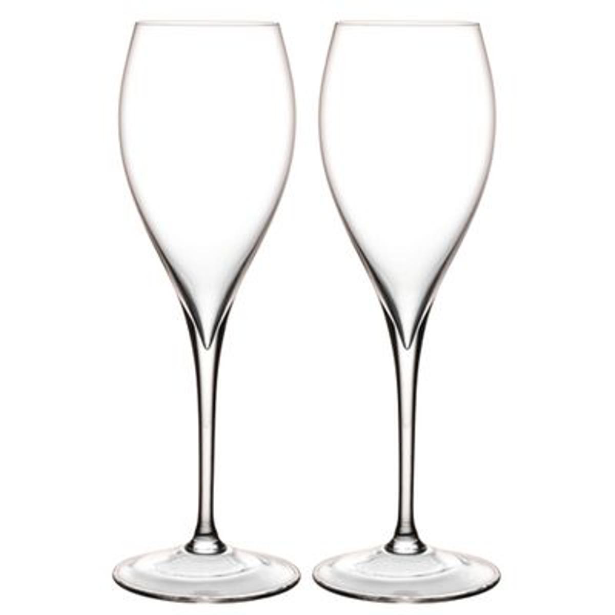 Flutes à champagne Grand Piqué, boite de 2
