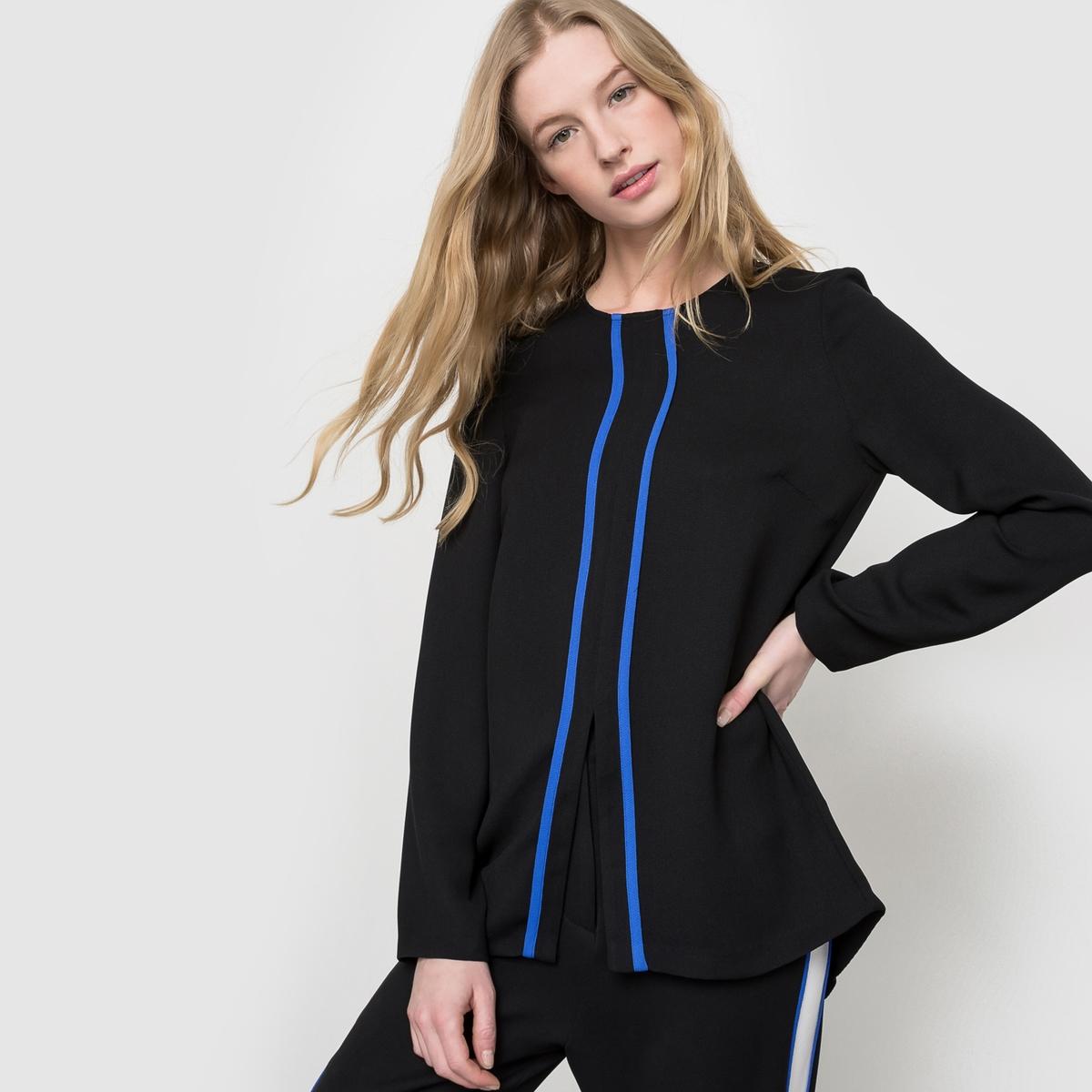 Блузка с длинными рукавамиСостав&amp;детали     Материал: 100% полиэстера.       Марка:FRENCH CONNECTION<br><br>Цвет: черный