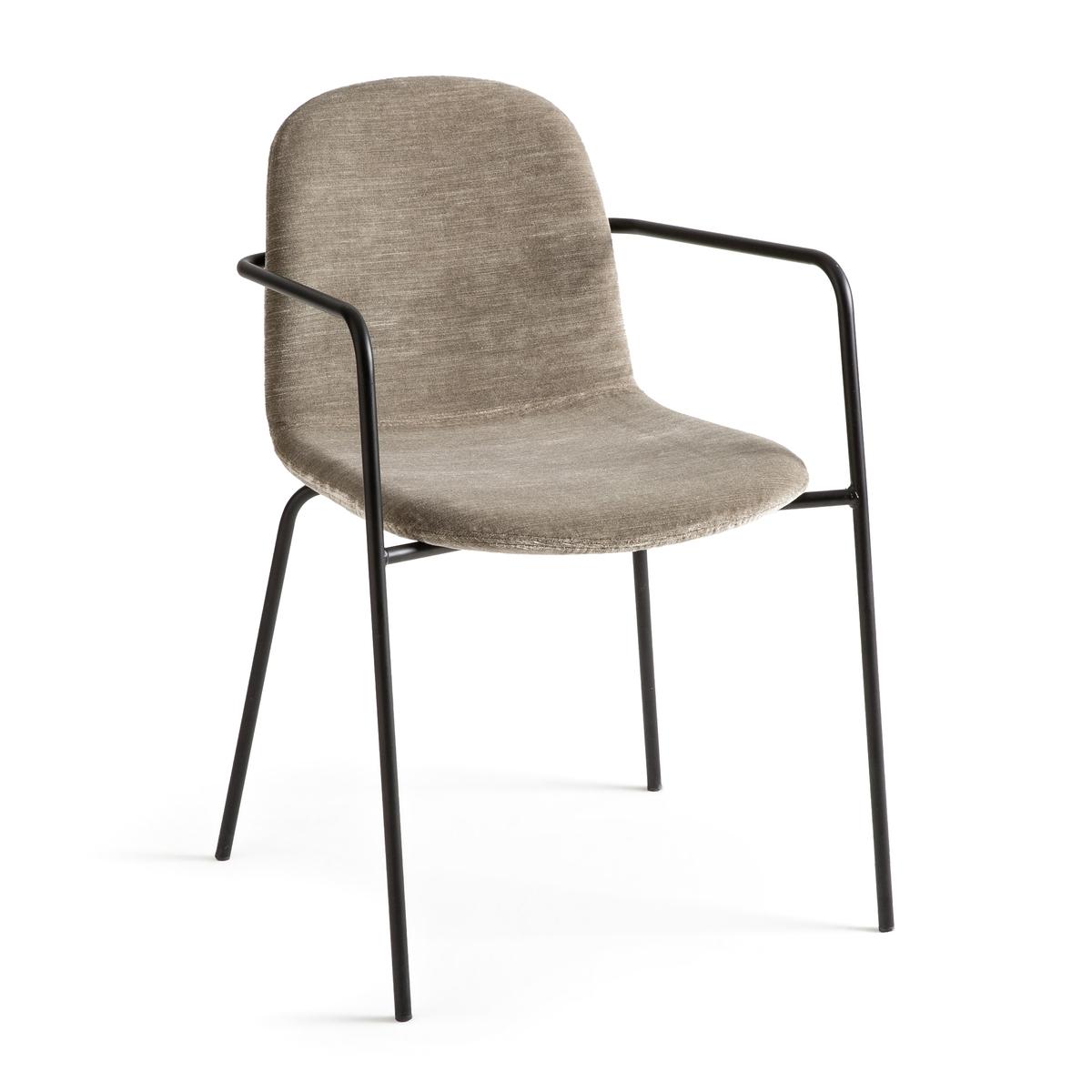 Кресло LaRedoute Велюровое Tibby единый размер серый