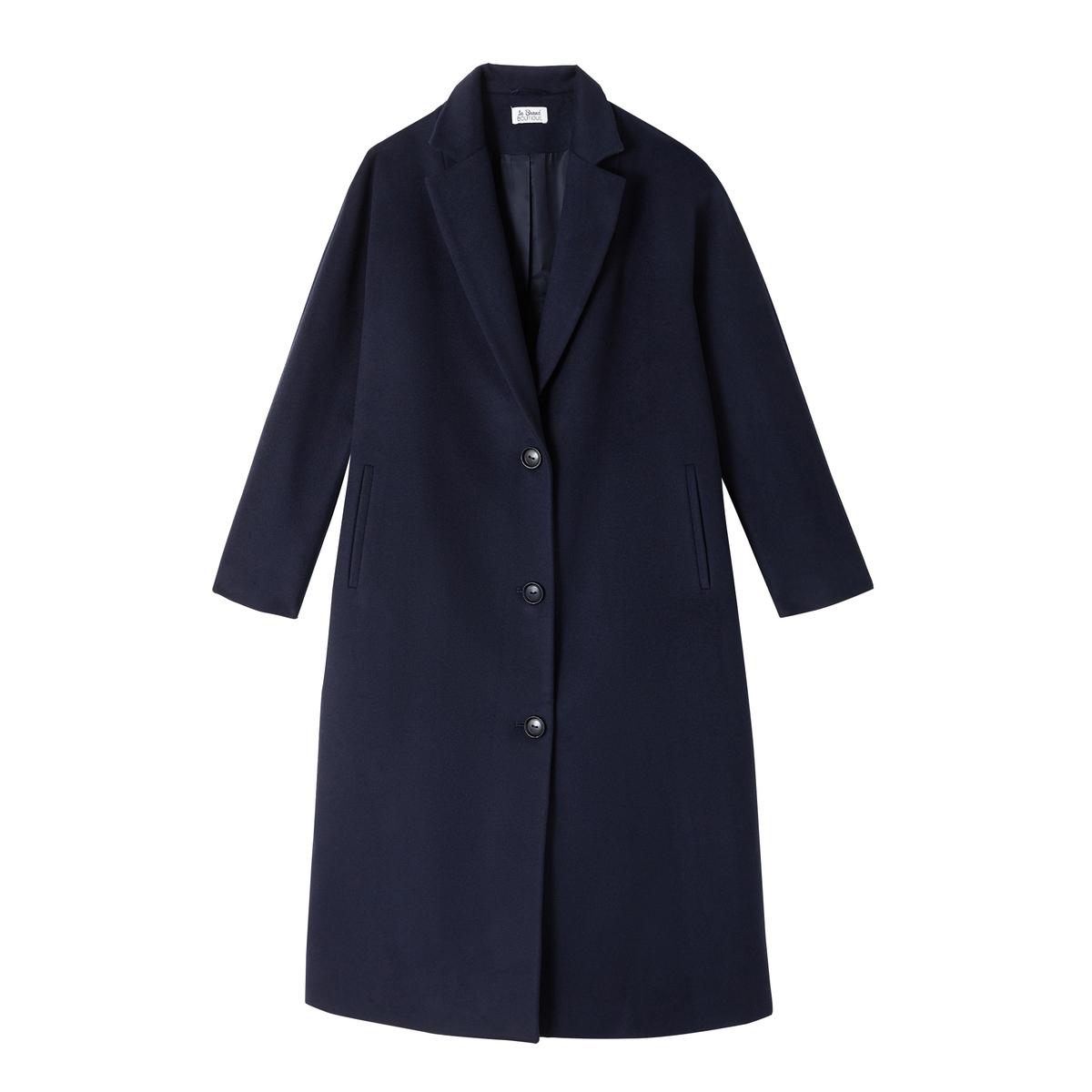 Пальто с рукавами-кимоно PAVONEОписание:Пальто длинное на пуговицах LA BRAND BOUTIQUE COLLECTION - модель PAVONE с рукавами-кимоно.Детали •  Длина : удлиненная модель •   V-образный вырез • Застежка на пуговицыСостав и уход •  70% шерсти, 10% кашемира, 20% полиамида •  Следуйте советам по уходу, указанным на этикетке   •  Рекомендуется заказывать на размер меньше Вашего обычного размера.<br><br>Цвет: темно-синий