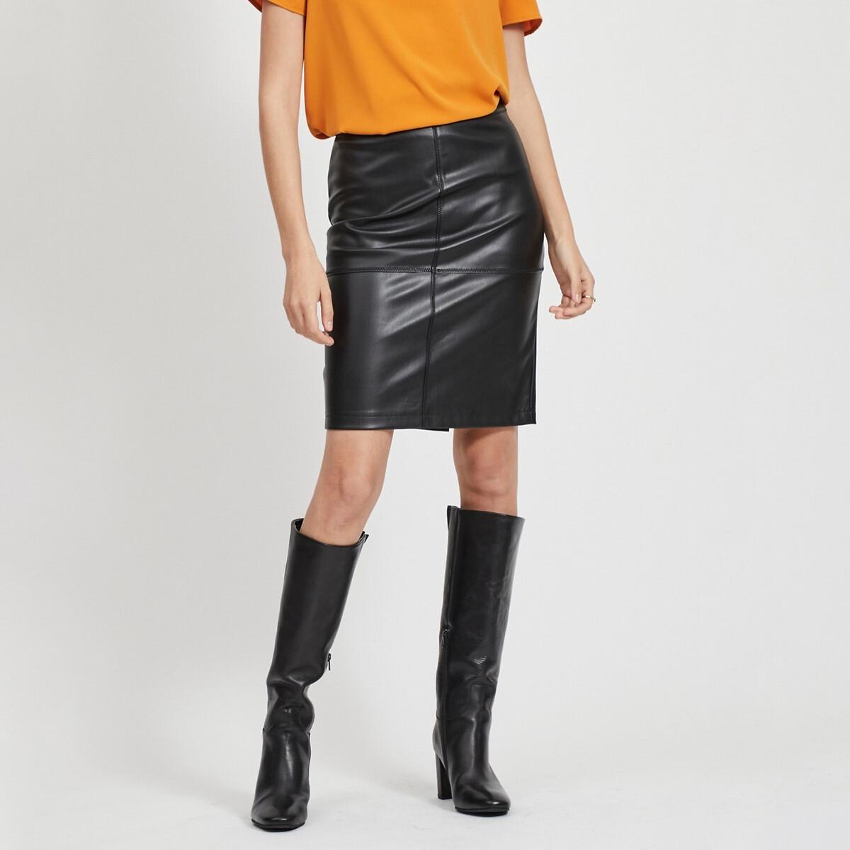 Юбка-карандаш La Redoute С разрезом Vipen Skirt S черный