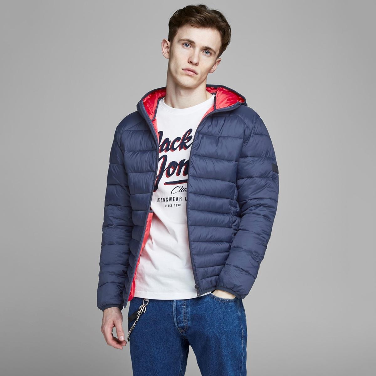 Куртка La Redoute Стеганая легкая с капюшоном Jjebomb XXL синий куртка la redoute стеганая на молнии с капюшоном meter xxl синий