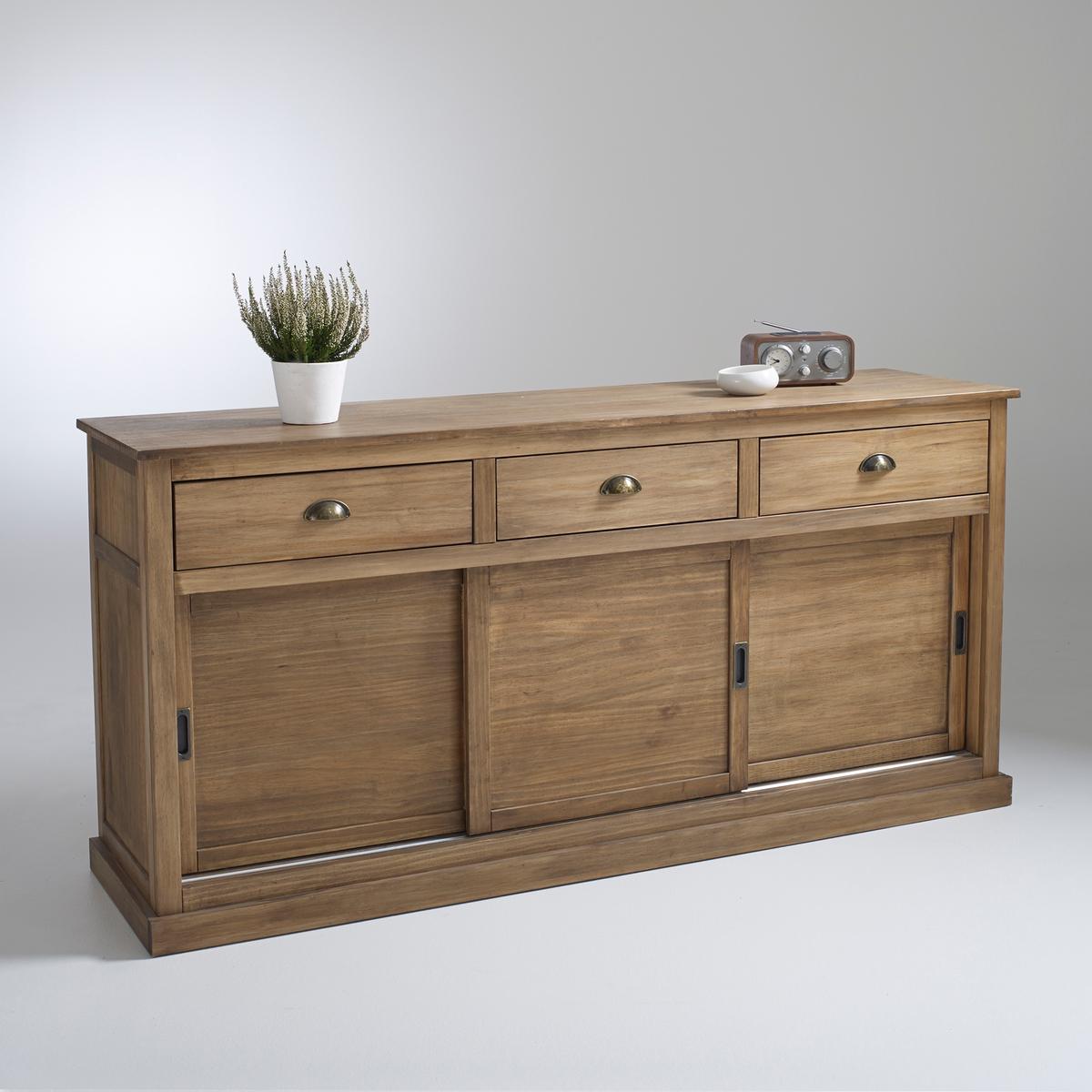 Шкаф-буфет с 3 дверцами и 3 ящиками, массив сосны, Lunja