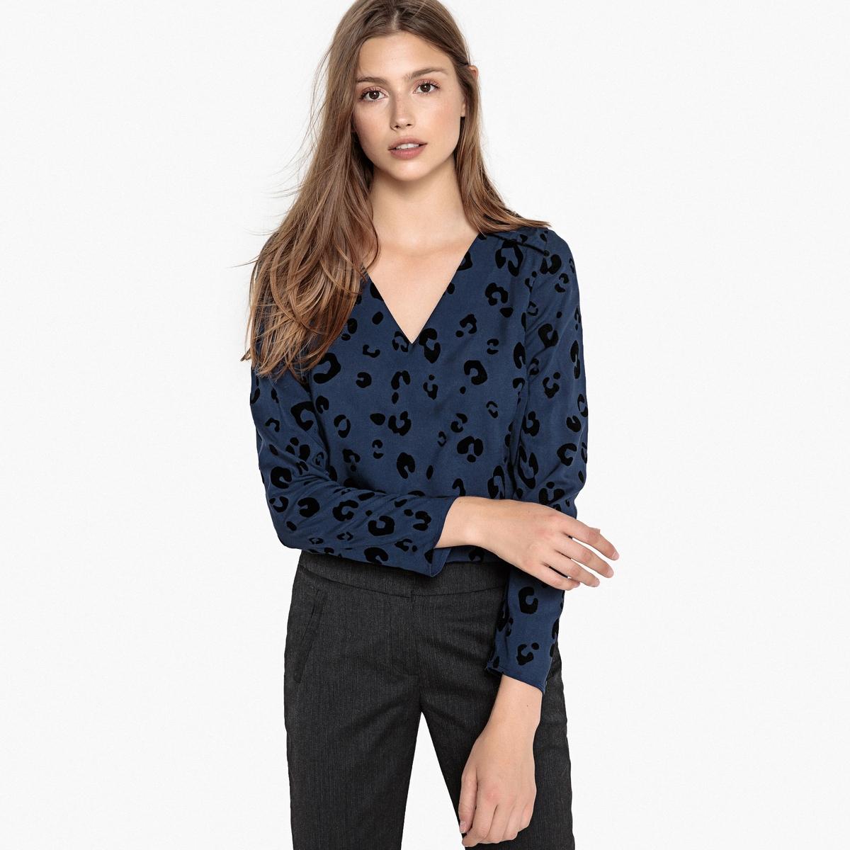Блузка с леопардовым принтом TOCTURNE