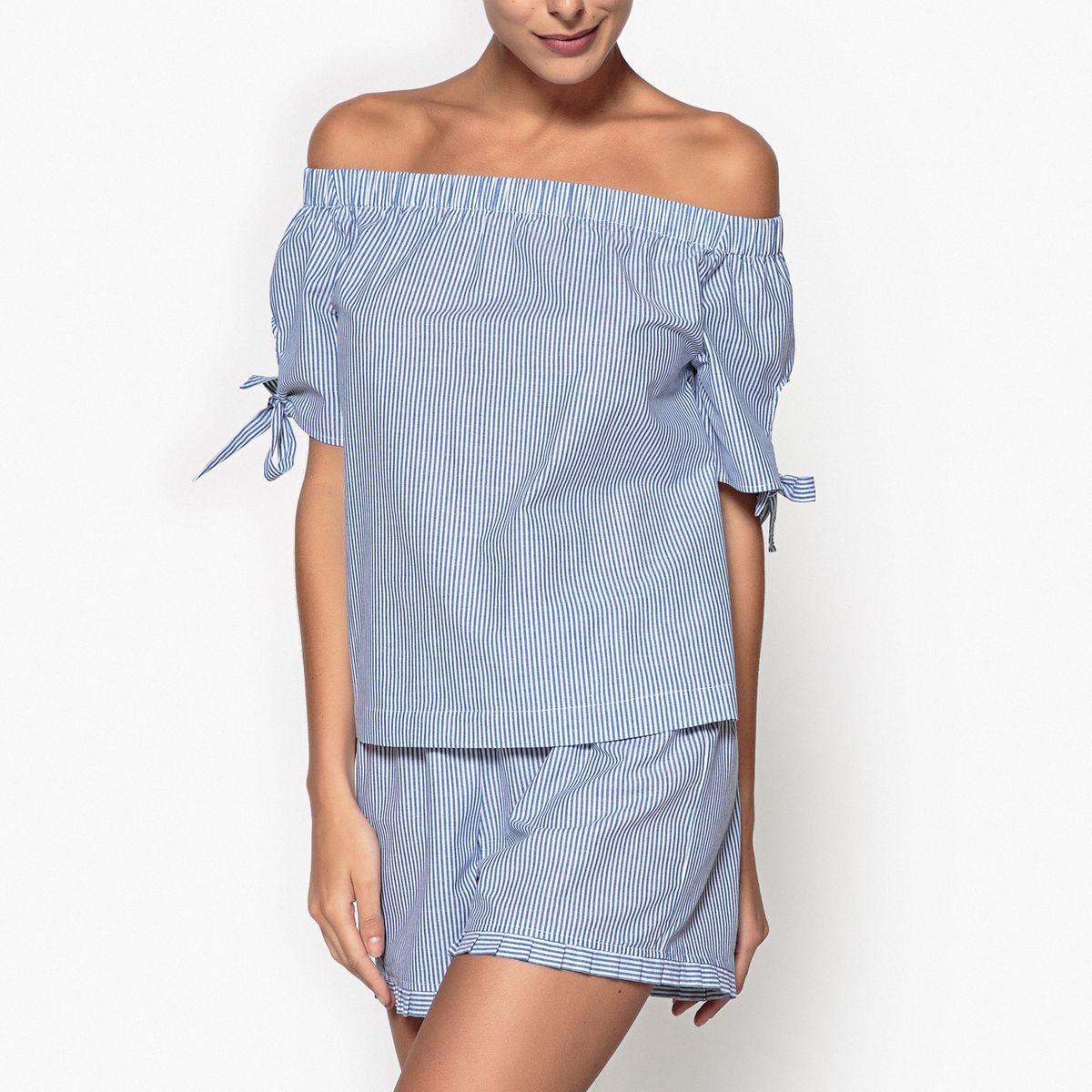 Pyjashort fines rayures