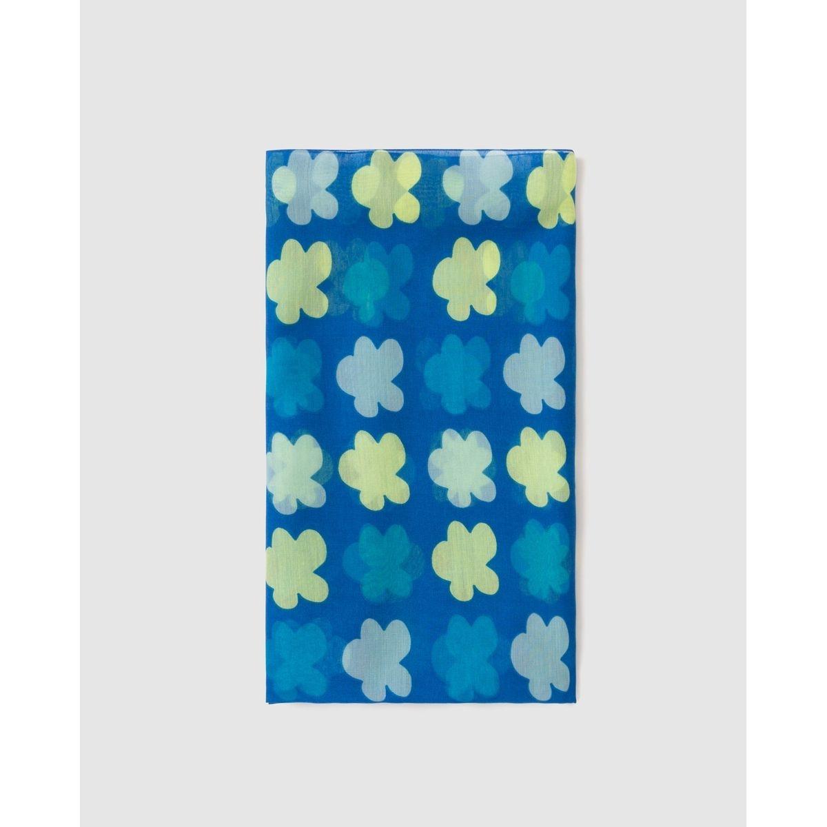 Foulard  à fleurs bleu