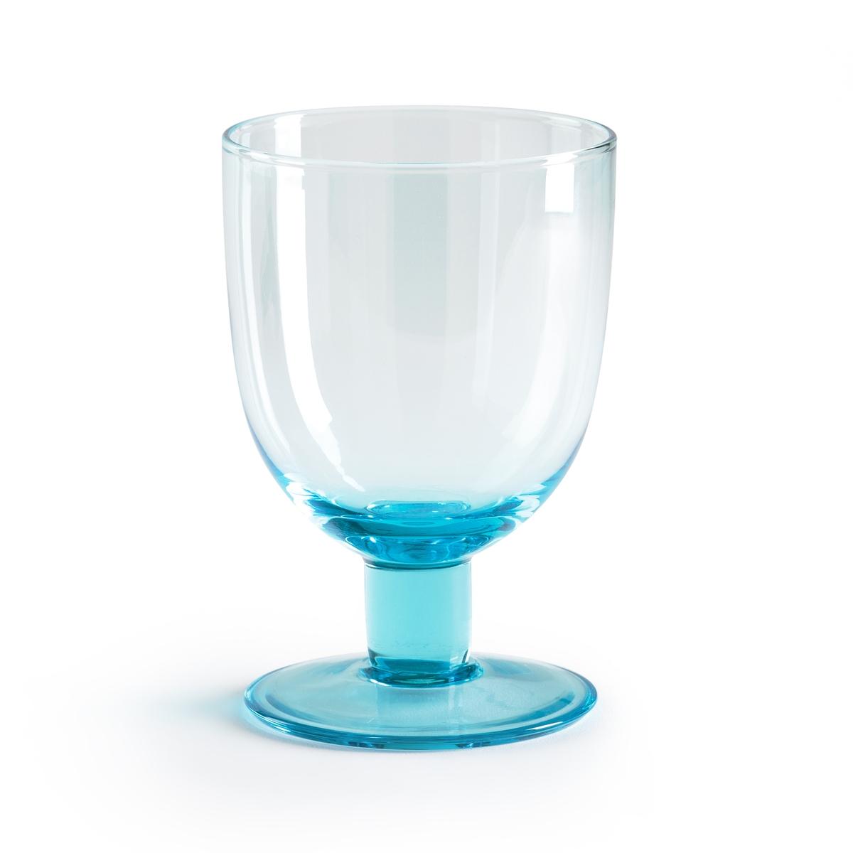 Комплект из 6 бокалов для воды Nubia6 бокалов для воды Nubia. Выбирайте бокалы из синего стекла для оригинальной нотки или из прозрачного стекла для чистоты. Форма с ножкой идеально подходит для воды. Из прозрачного или синего стекла. Размеры: ?8,5 x В13 см. Подходят для использования в посудомоечной машине.<br><br>Цвет: прозрачный,синий