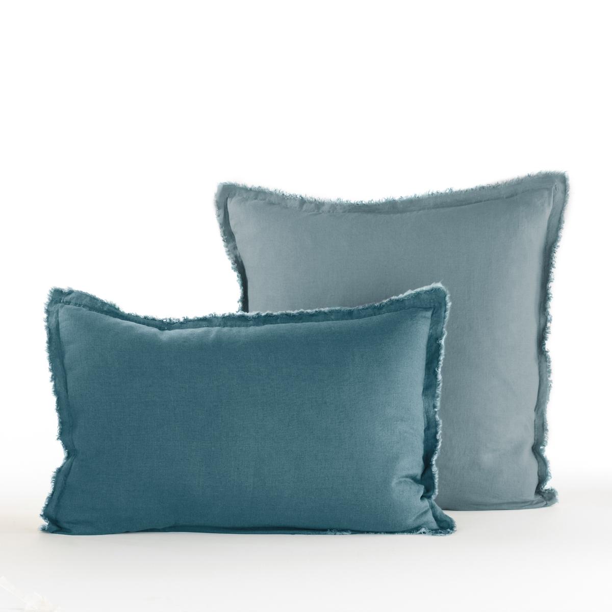 Наволочка PurangiМатериал :- 100% лен.Отделка :   - Бахрома- Форма мешка.Уход :   Машинная стирка при 60 °С. Размеры :50 x 70 см : прямоугольная наволочка - 65 x 65 см : квадратная наволочка<br><br>Цвет: зеленый кедровый,светло-синий,серый