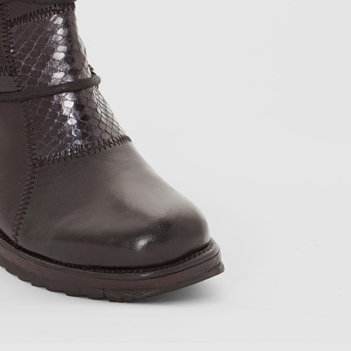 Ботинки, ALMAВерх/Голенище: Яловичная кожа.    Подкладка: Кожа.     Стелька: Кожа.Подошва: Каучук.                        Высота каблука: 3 см. Высота голенища: 16 см. Форма каблука: Широкая.Мысок: Круглый.   Застежка: Шнуровка.<br><br>Цвет: черный<br>Размер: 40
