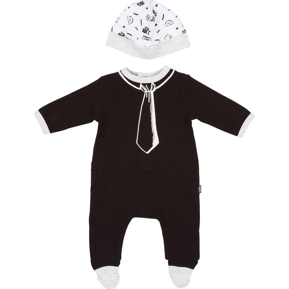 Pyjama et bonnet en interlock