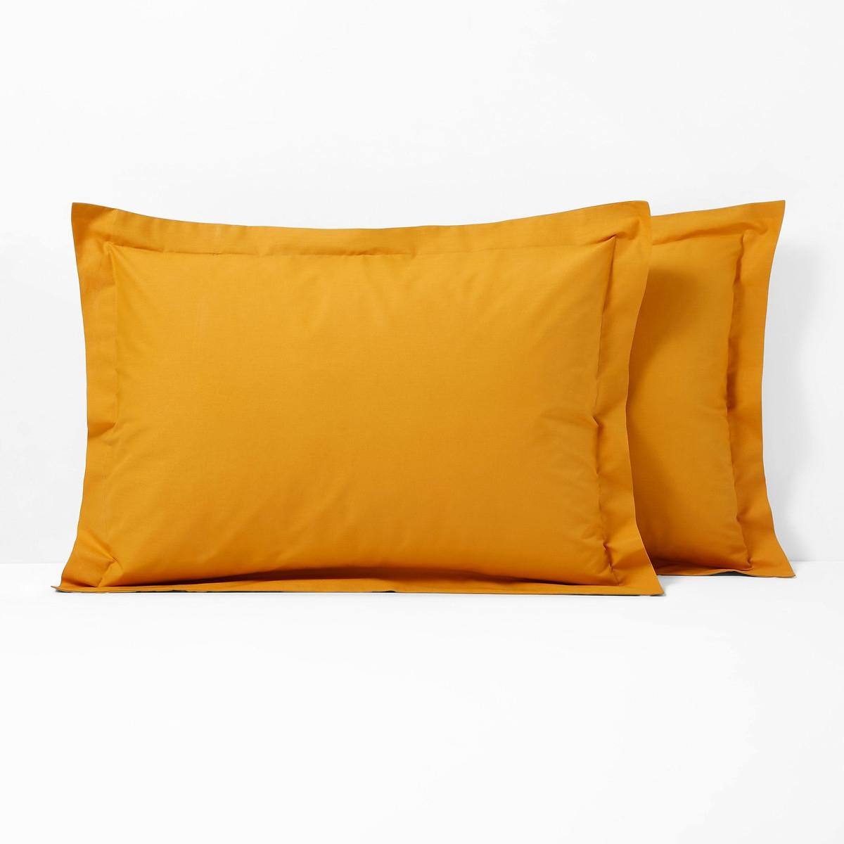 Scenario Plain Polycotton Pillowcase With Flounce