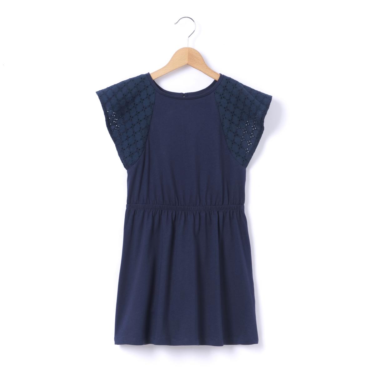 Платье с короткими рукавами на 3-12 лет