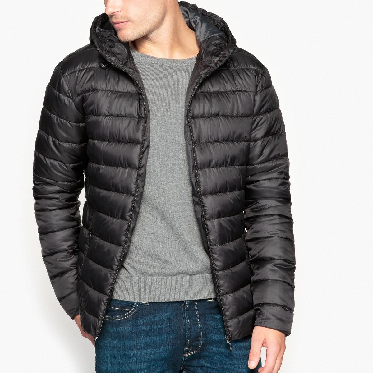 Куртка стеганая короткая с капюшоном