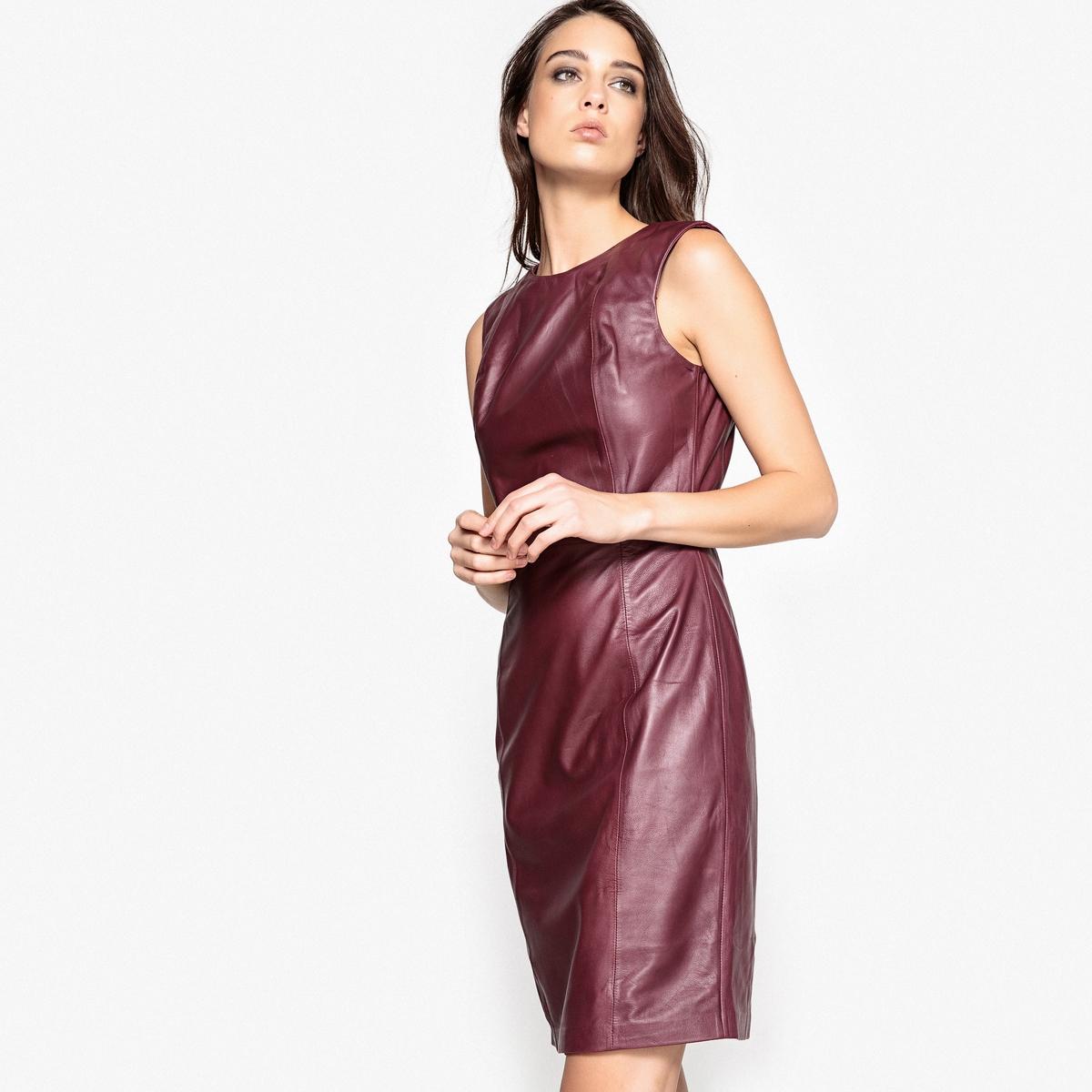 Платье прямое кожаное кожаное платье