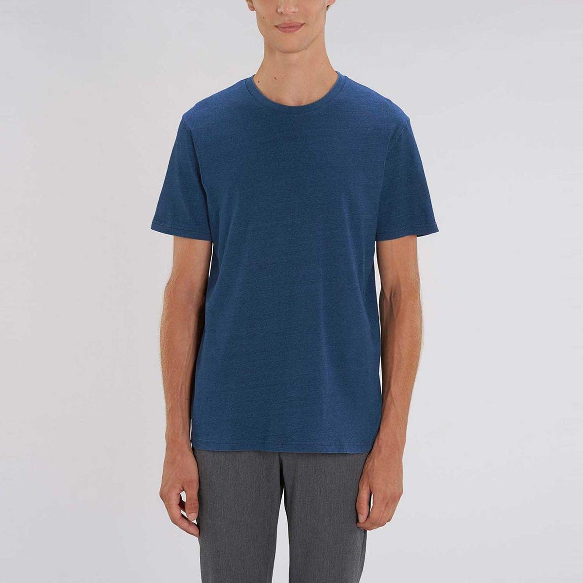 Tee shirt denim manches courtes col rond coton bio  Cozumel