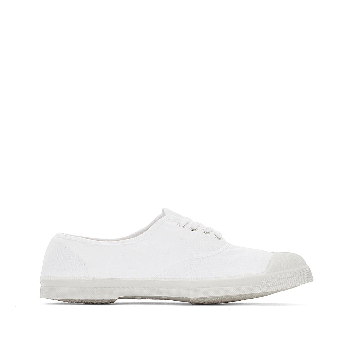 Кеды базового гардероба на шнуровкеОписание:Детали   •  Спортивный стиль •  Плоский каблук •  Застежка : шнуровкаСостав и уход  •  Верх 100% текстиль •  Подкладка 100% текстиль •  Подошва 100% каучук<br><br>Цвет: белый<br>Размер: 41.37