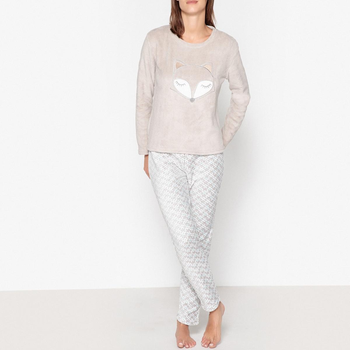 Пижама из велюра с рисунком лиса пижама с шортами с рисунком