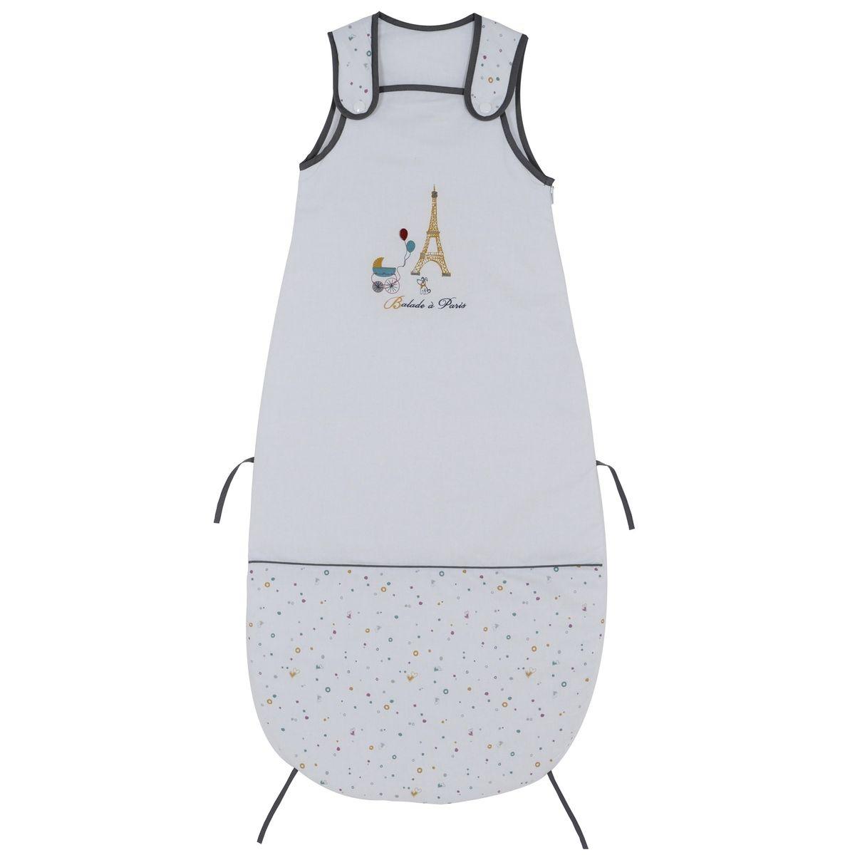 Gigoteuse réglable P'tit Basile Collection 'Little Paris' - 6-36 mois - Blanc