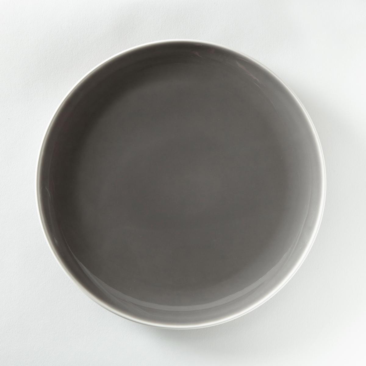 4 тарелки плоские с дизайнерским рисунком от La Redoute