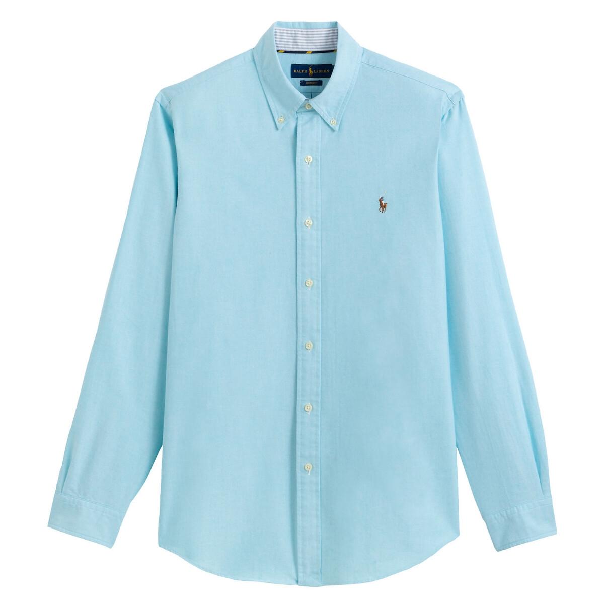Рубашка La Redoute Прямого покроя из ткани оксфорд L синий рубашка la redoute из ткани оксфорд 16 лет 162 см синий