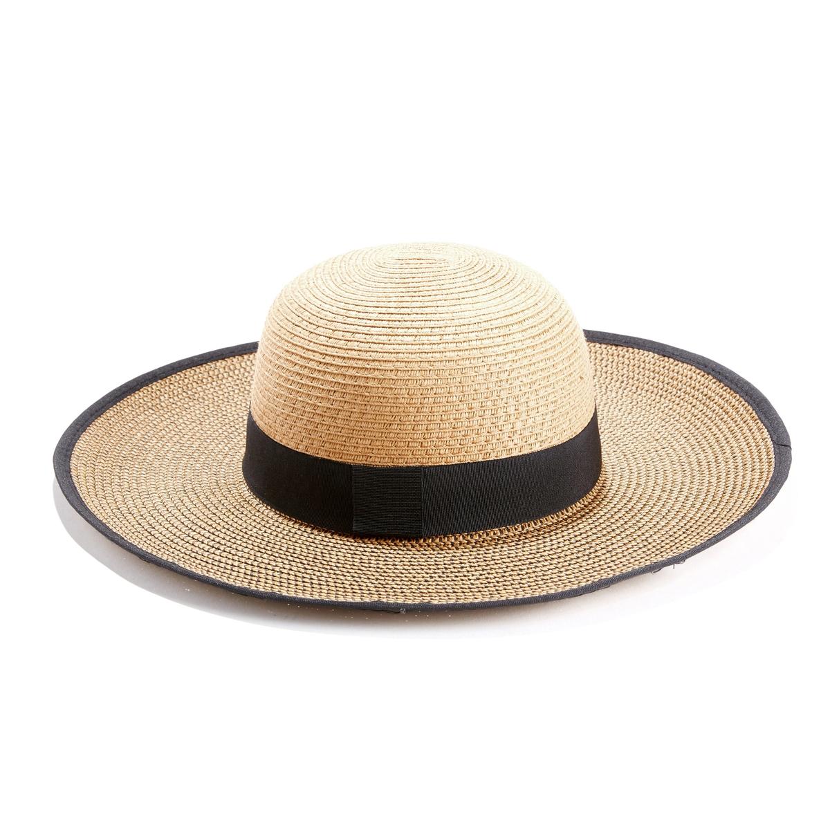 Шляпа из соломыОписание:Великолепная соломенная шляпа с разными оттенками и красивой лентой : наденьте ее с приходом первых теплых деньков !Состав и описание : Шляпа с широкими полами в этническом стилеМатериал : солома, бумагаОбхват головы 56 см<br><br>Цвет: песочный<br>Размер: единый размер