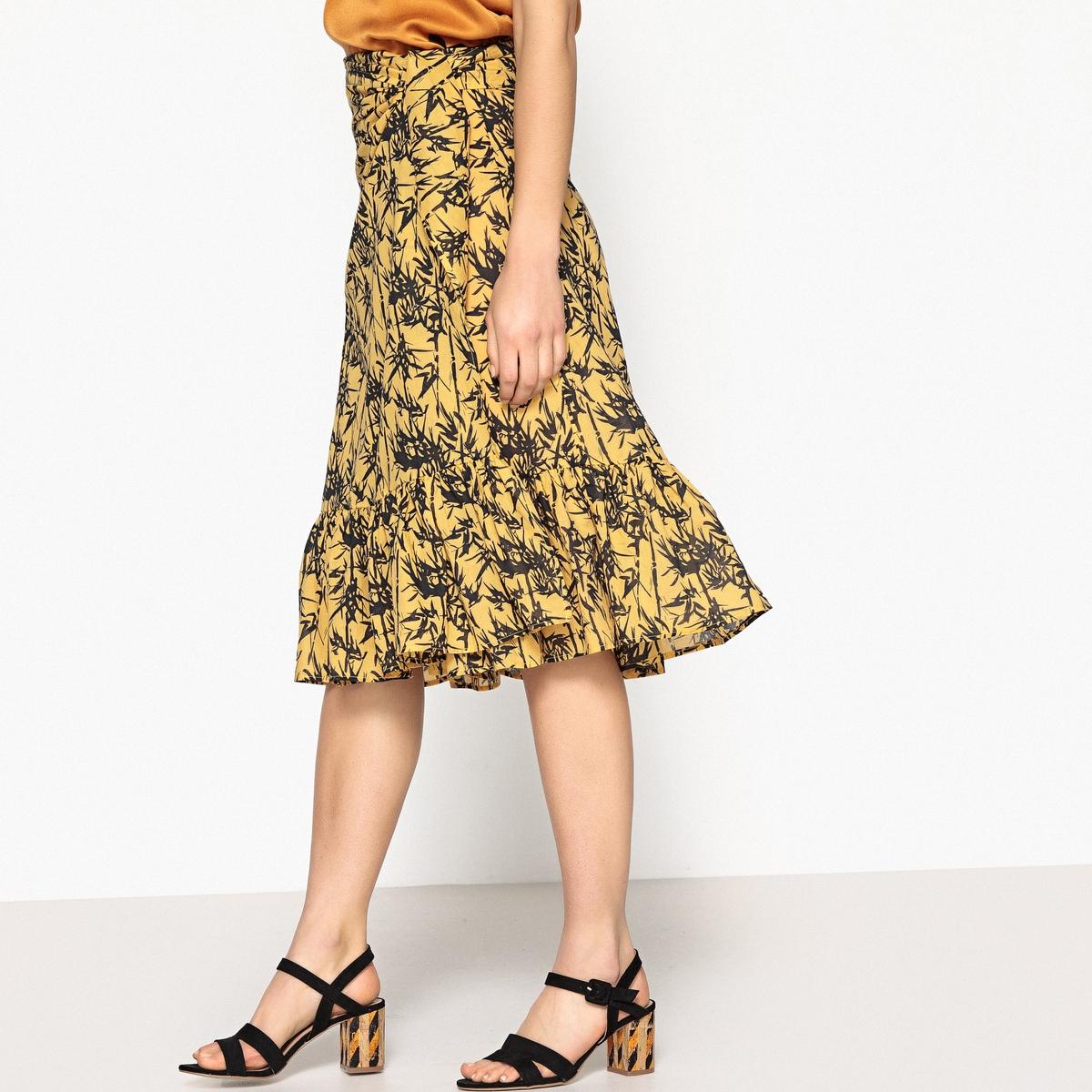 Юбка-миди с запахом с рисунком JOJO юбка миди однотонная с запахом