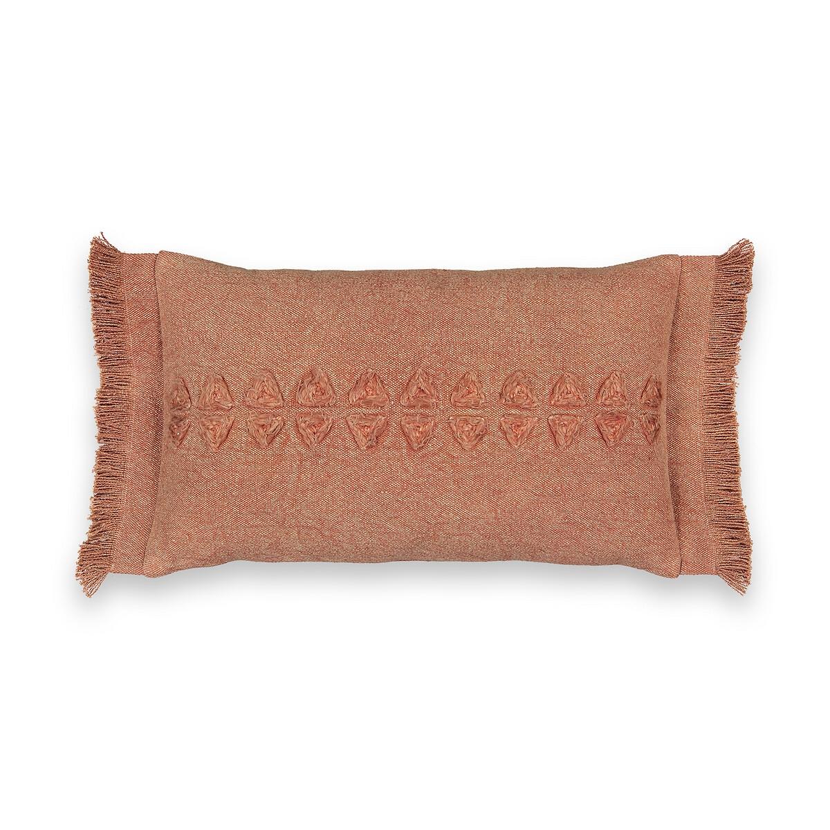 Чехол LaRedoute На подушку Meknes 50 x 30 см каштановый