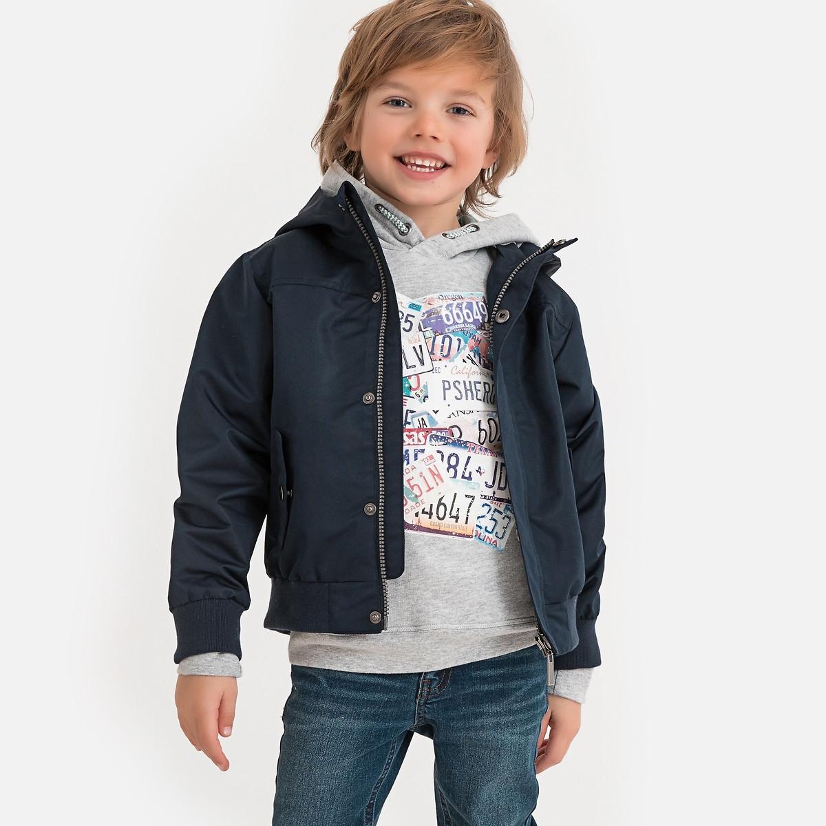Фото - Куртка LaRedoute С капюшоном 3-12 лет 8 лет - 126 см синий рубашка laredoute джинсовая 3 12 лет 8 лет 126 см синий