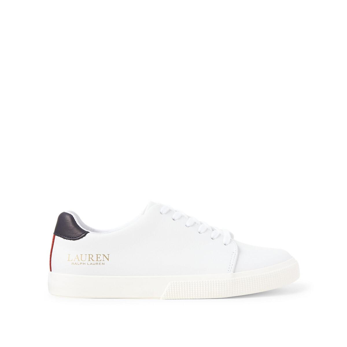 Кеды LaRedoute На шнуровке из кожи JOANA 37 белый кеды laredoute высокие тканевые на шнуровке 39 белый