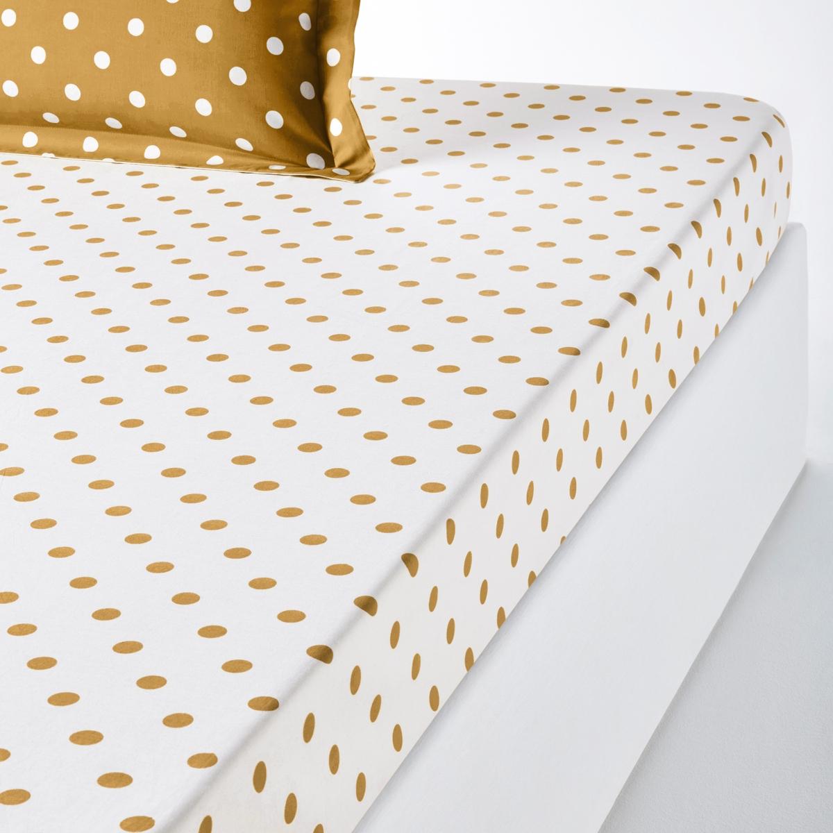 La Redoute Interieurs Lençol-capa em puro algodão estampado às bolas, Clarisse