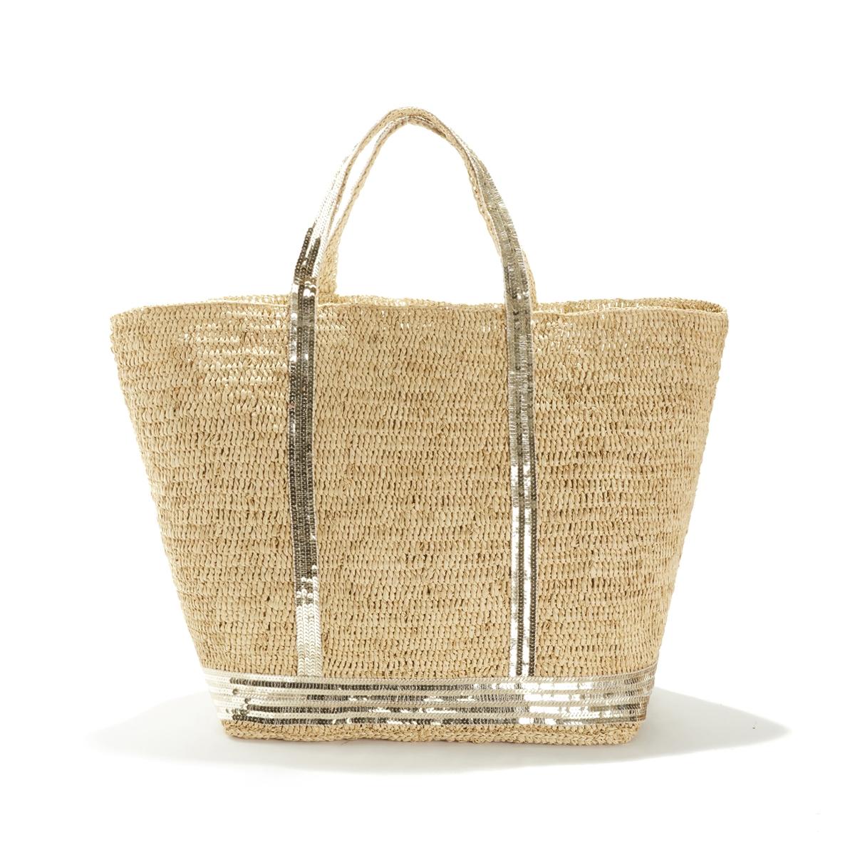 Фото - Сумка-шоппер La Redoute Из рафии с блестками единый размер желтый сумка шоппер средняя из парусины с блестками