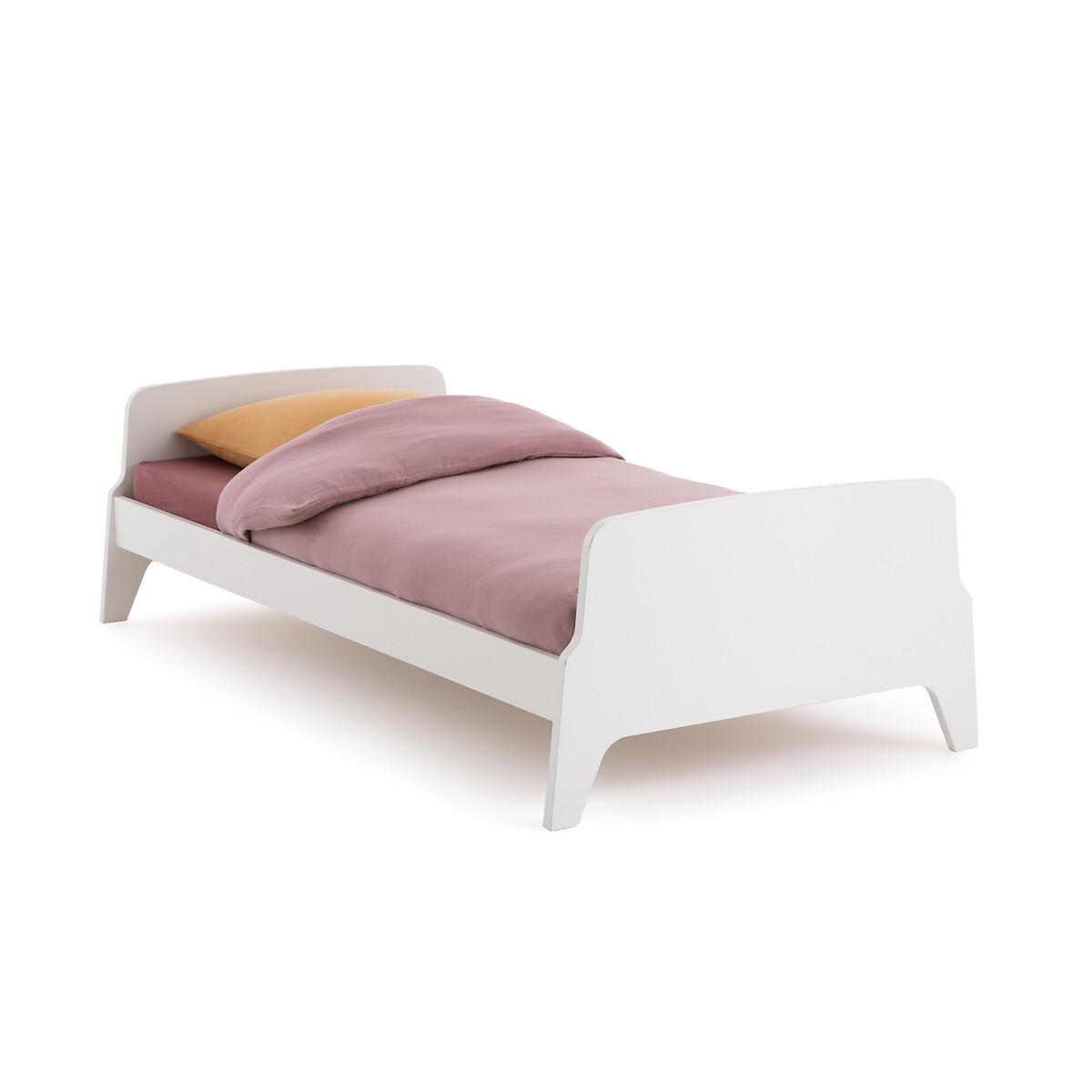 Кровать LaRedoute 1-сп в винтажном стиле Adil 90 x 190 см белый матрас laredoute для кровати с ящиком 90 x 180 x 12 белый