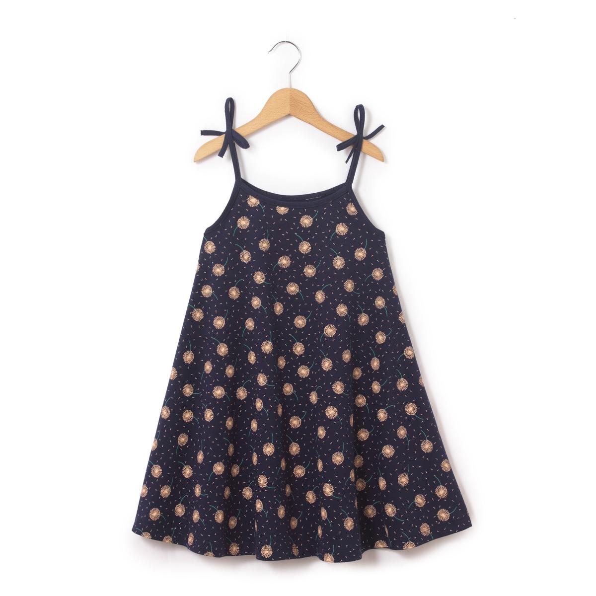 Платье с рисунком на 3-12 лет
