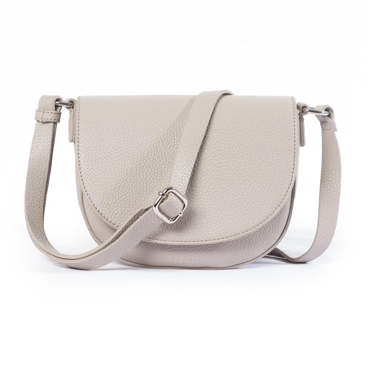 Сумка-клатчВеликолепная женственная сумка в форме клатча с закругленными краями. Состав и описание : •  Материал : верх из полиуретана                        Подкладка из полиэстера. •  Марка : Esprit •  Модель : Tilda •  Размер : 16 x 20 x 9 см •  Застежка : молния1 внутренний карман Носить через плечоРегулируемый плечевой ремень<br><br>Цвет: белый