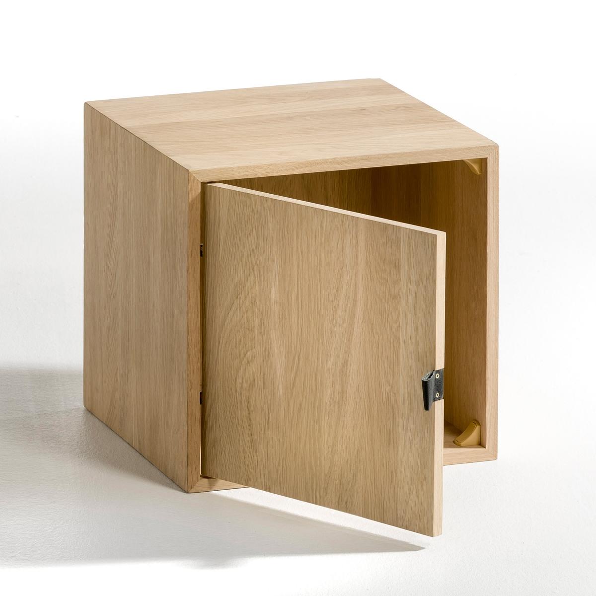 Ящик с 1 дверкой Kouzou, из дубаLa Redoute<br>Характеристики:- Ящик с 1 дверкой.- Из массива дуба.- Дверка с кожаной ручкой .Размеры: 34,7 x 34,7 x 34,7 см.<br><br>Цвет: натуральный дуб