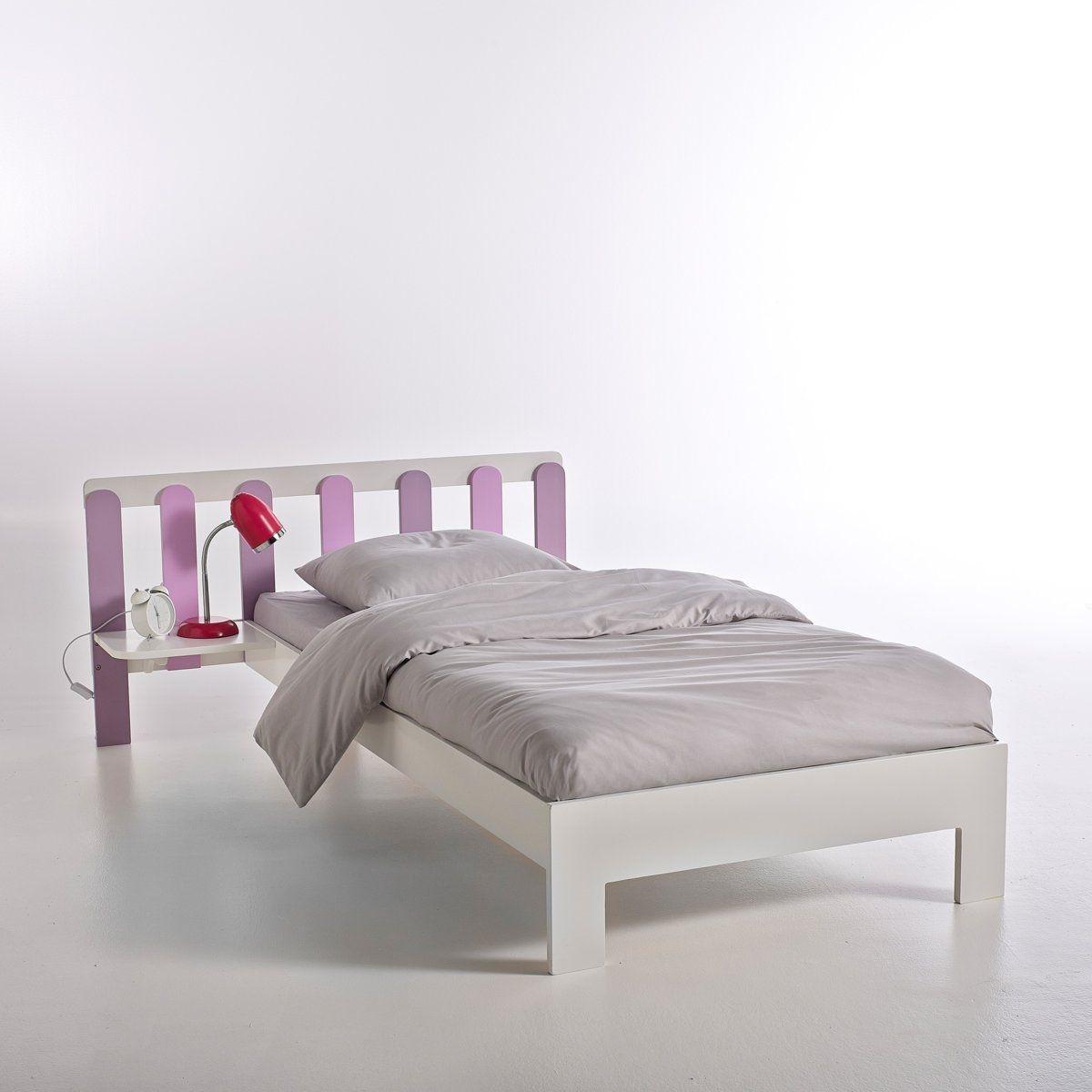 ensemble lit chevet int gr 1 personne okage multicolore rose interieurs. Black Bedroom Furniture Sets. Home Design Ideas