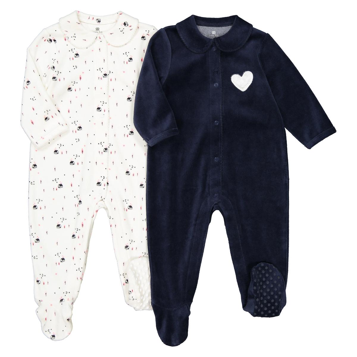 Слитные La Redoute Пижамы для новорожденного - года рожденные раньше срока - 45 см синий цена